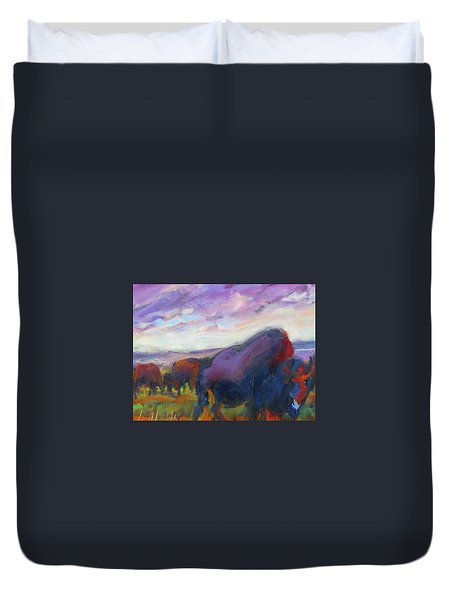 Purple Sky Buffalo Duvet Cover