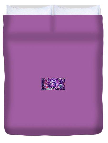 Purple Splatter Duvet Cover by Margalit Romano