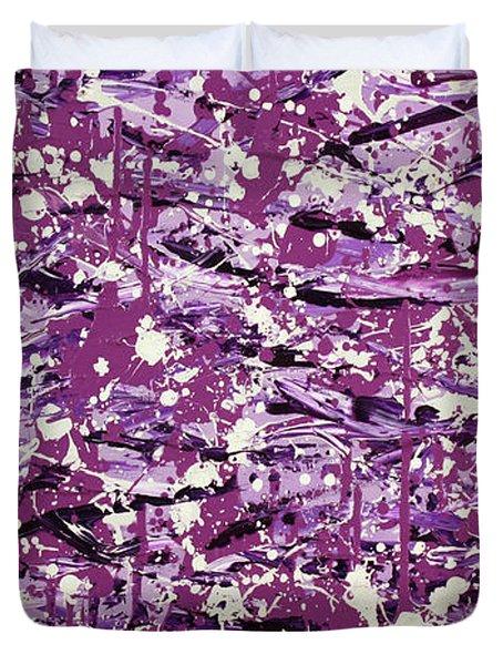 Purple Splatter Duvet Cover