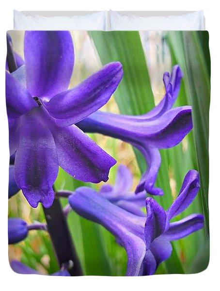 Purple Spring Duvet Cover