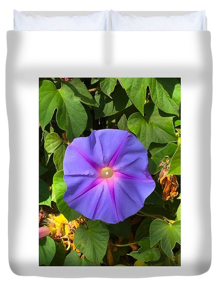 Purple Star Duvet Cover