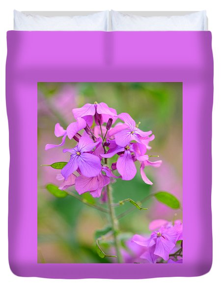 Purple Star Phlox Duvet Cover