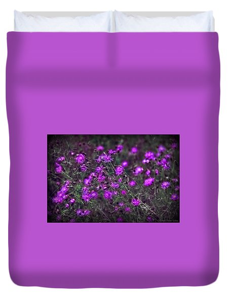 Purple Stars Duvet Cover