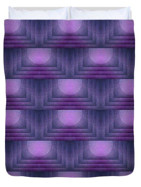 Purple Sun Deco Duvet Cover by Patricia Strand