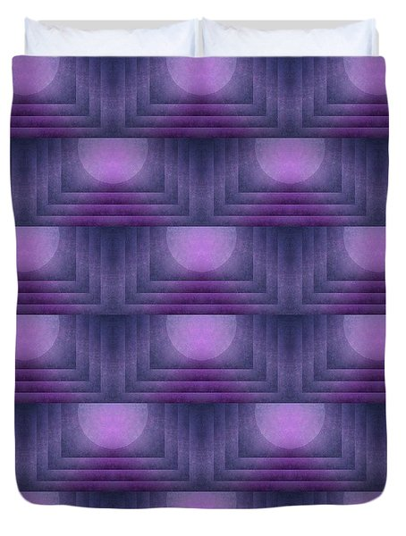 Purple Sun Deco Duvet Cover