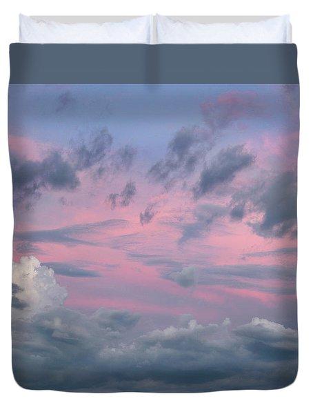 Purple Sunrise Duvet Cover by Tim Fitzharris