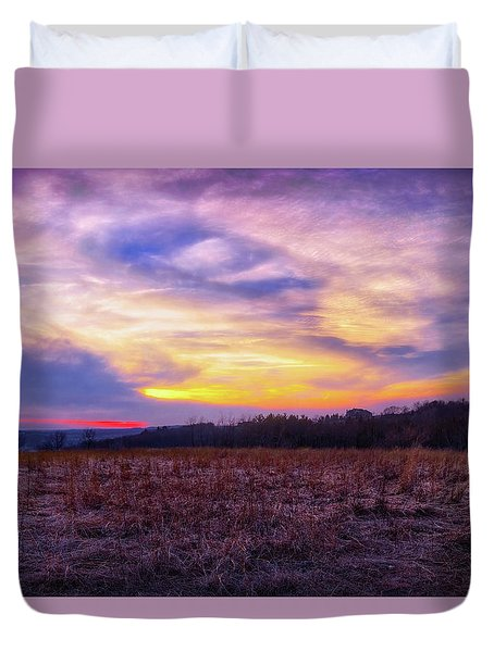 Purple Sunset At Retzer Nature Center Duvet Cover by Jennifer Rondinelli Reilly - Fine Art Photography