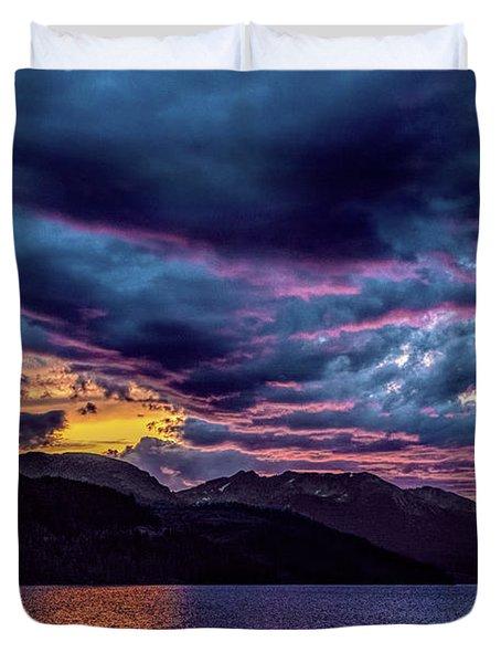 Purple Sunset At Summit Cove Duvet Cover