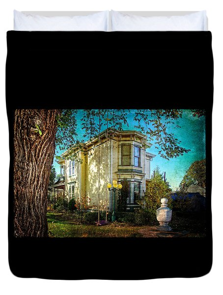 House With The Purple Swing Duvet Cover by Thom Zehrfeld