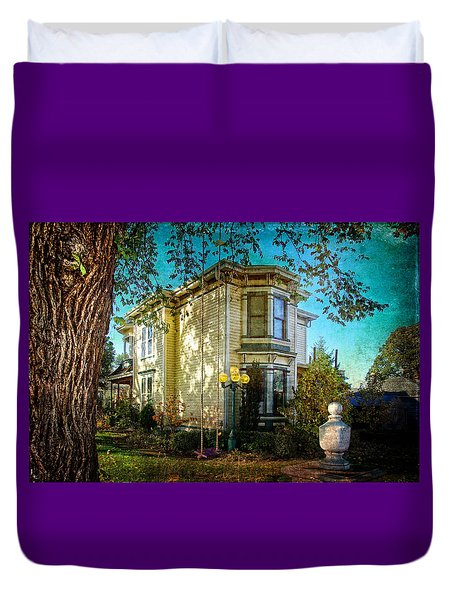 House With The Purple Swing Duvet Cover