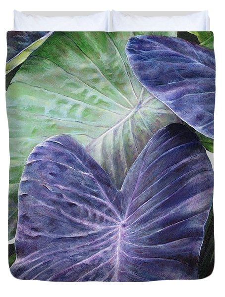 Purple Taro Duvet Cover by Sandra Blazel - Printscapes