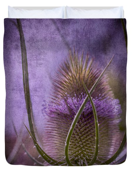 Purple Teasel Duvet Cover