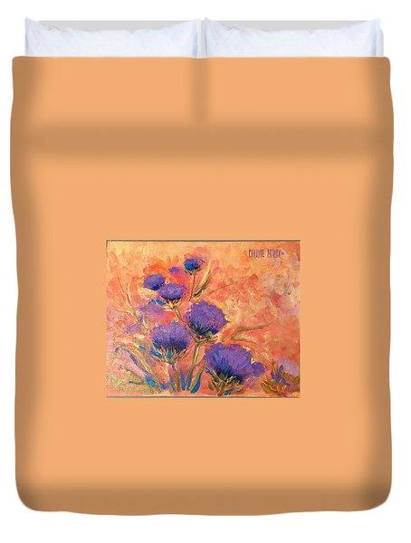 Purple Thistles Duvet Cover