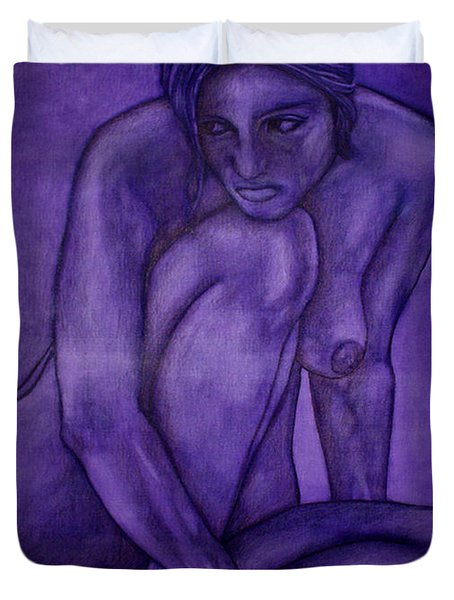 Purple Duvet Cover by Thomas Valentine