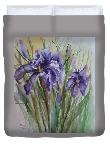 Purple Times 3 Duvet Cover
