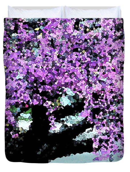 Purple Tree Duvet Cover
