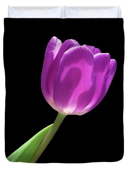 Purple Tulip 3 Duvet Cover