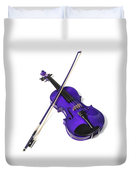 Purple Violin Duvet Cover