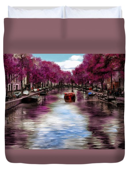 Purple Water Duvet Cover