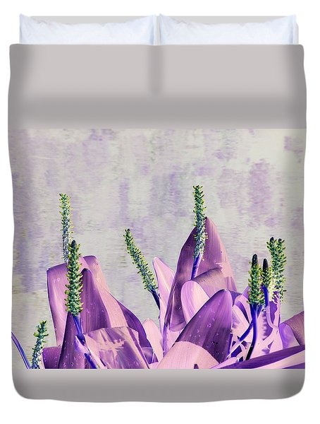 Purple Water Plant Duvet Cover
