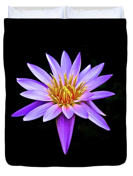 Purple Waterlily With Golden Heart Duvet Cover