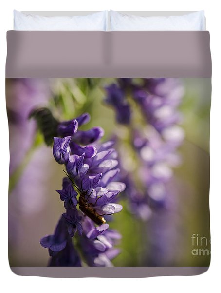 Purple Wildflowers Duvet Cover