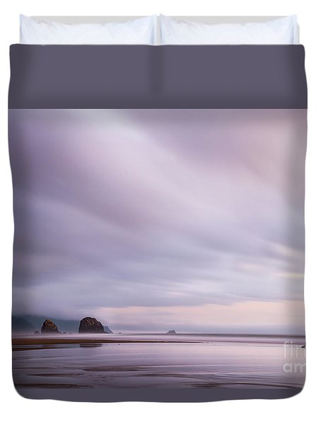 Purple Wisp In The Morning Duvet Cover