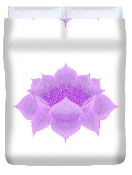 Purple Lotus Pattern Duvet Cover