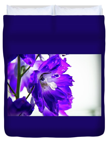 Duvet Cover featuring the photograph Purpled by David Sutton