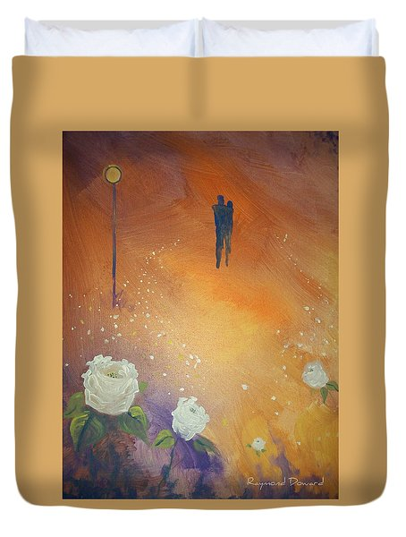 Duvet Cover featuring the painting Purpose by Raymond Doward