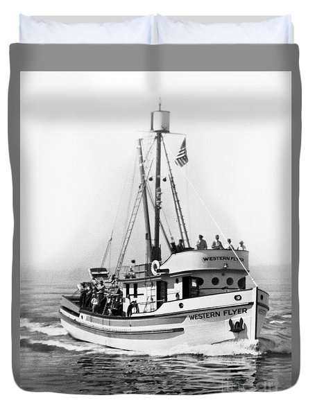 Purse Seiner Western Flyer On Her Sea Trials Washington 1937 Duvet Cover