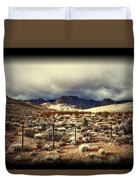 Duvet Cover featuring the photograph Push by Mark Ross
