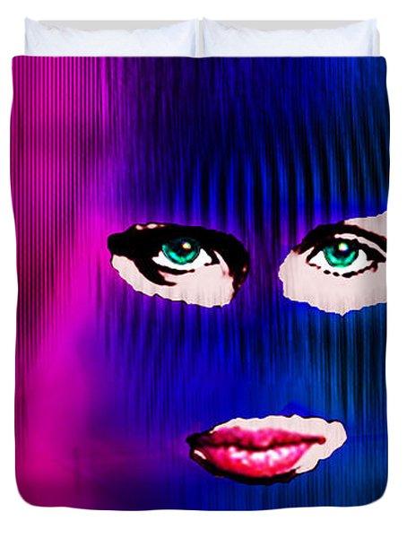 Pussy Riot Duvet Cover by Tony Rubino