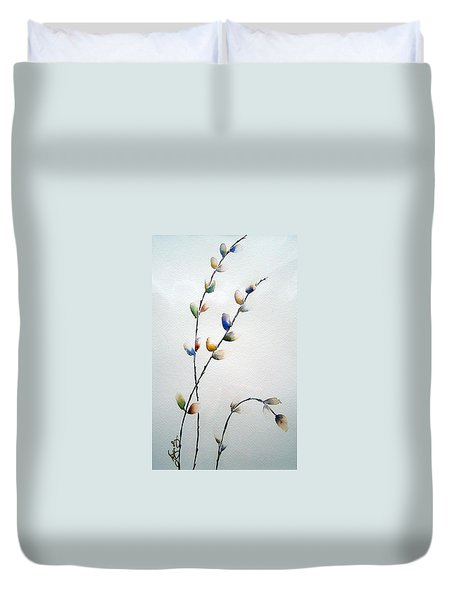 Pussy Willows Duvet Cover