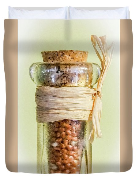 Put A Cork In It Duvet Cover by Skip Tribby