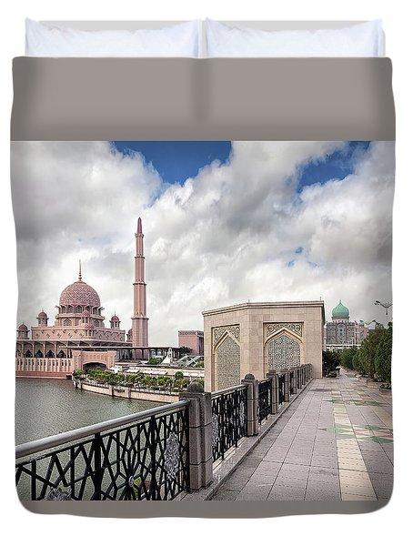 Putra Mosque Duvet Cover by David Gn