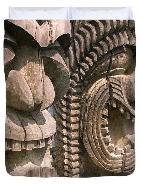 Puuhonua O Honaunau Duvet Cover by Ron Dahlquist - Printscapes