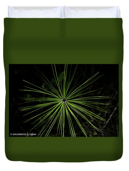 Pyrotechnics Or Pine Needles Duvet Cover by Stefanie Silva