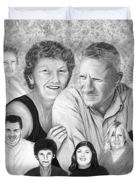 Quade Family Portrait  Duvet Cover by Peter Piatt