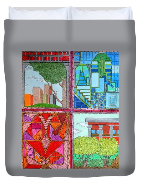 Quadrants Duvet Cover