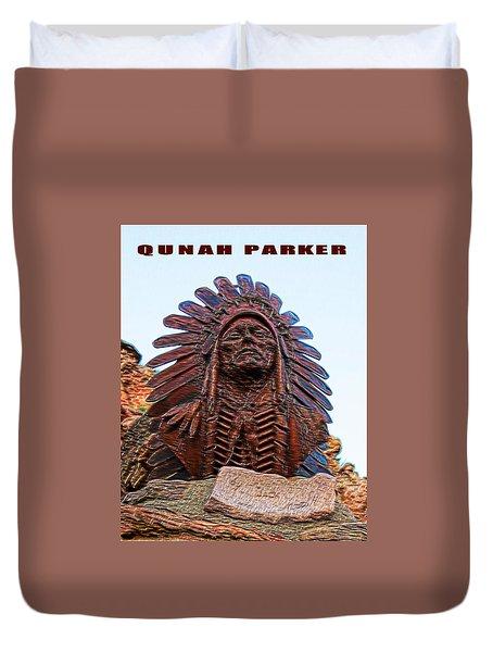 Quahah Parker - Last Comanche Chief Duvet Cover