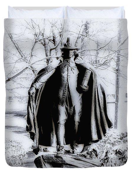 Quaker Pilgrim Duvet Cover by Bill Cannon