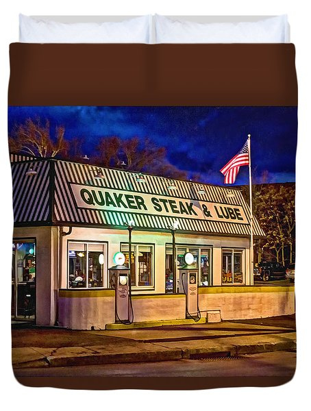 Quaker Steak And Lube Duvet Cover