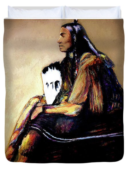 Quanah Parker The Last Comanche Chief II Duvet Cover