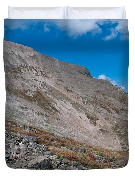 Duvet Cover featuring the photograph Quandary Peak by Cascade Colors