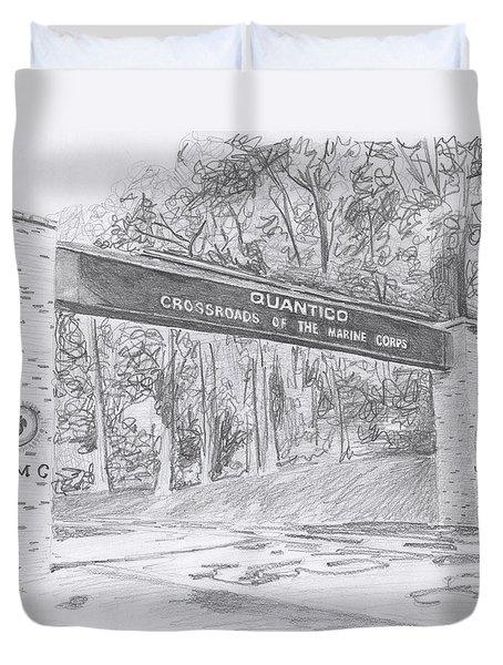 Quantico Welcome Graphite Duvet Cover