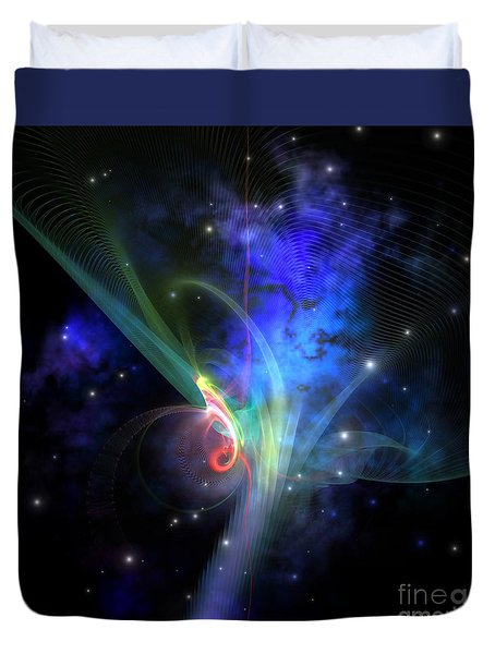 Quantum Filament Duvet Cover by Corey Ford