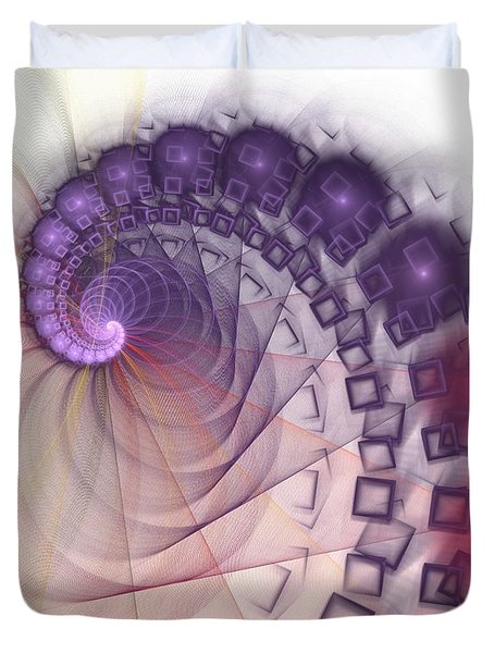 Duvet Cover featuring the digital art Quantum Gravity by Anastasiya Malakhova
