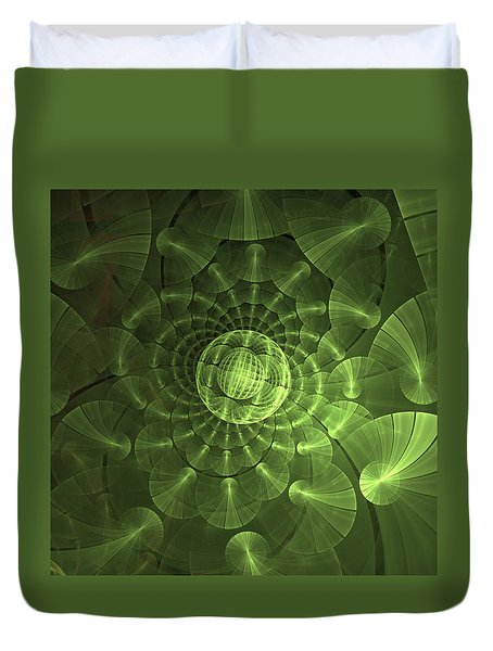 Quantum Plasma Signature Duvet Cover