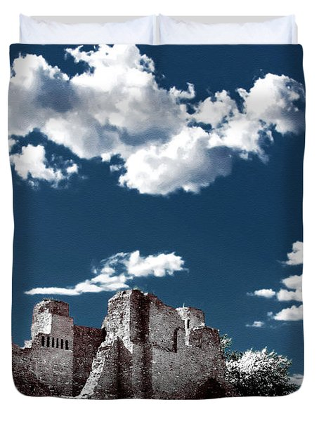 Quarai New Mexico - Infrared False Color Duvet Cover by Christine Till